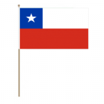 Chile Country Hand Flag - Large.